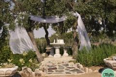 Altar boda casa rural