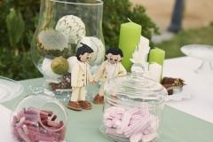 Mesa dulce boda casa rural