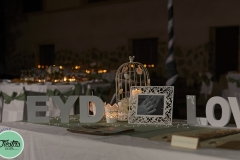 Mesa detalles boda casa rural