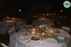 Decoración de mesas boda casa rural
