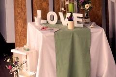 Mesa libro de firmas boda
