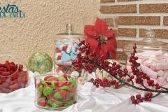 Mesa dulce boda navidad clásica