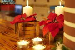 Decoración fiesta boda navidad clásica