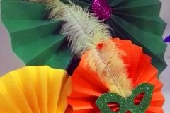 Decoración de carnaval en polideportivo municipal de illescas