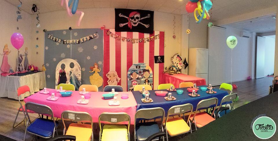 Decoración cumpleaños infantil Piratas y Princesas