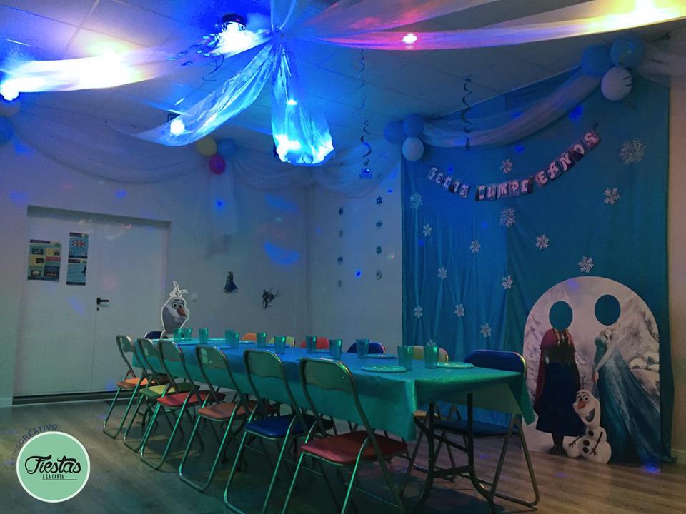 Decoración cumpleaños infantil Frozen