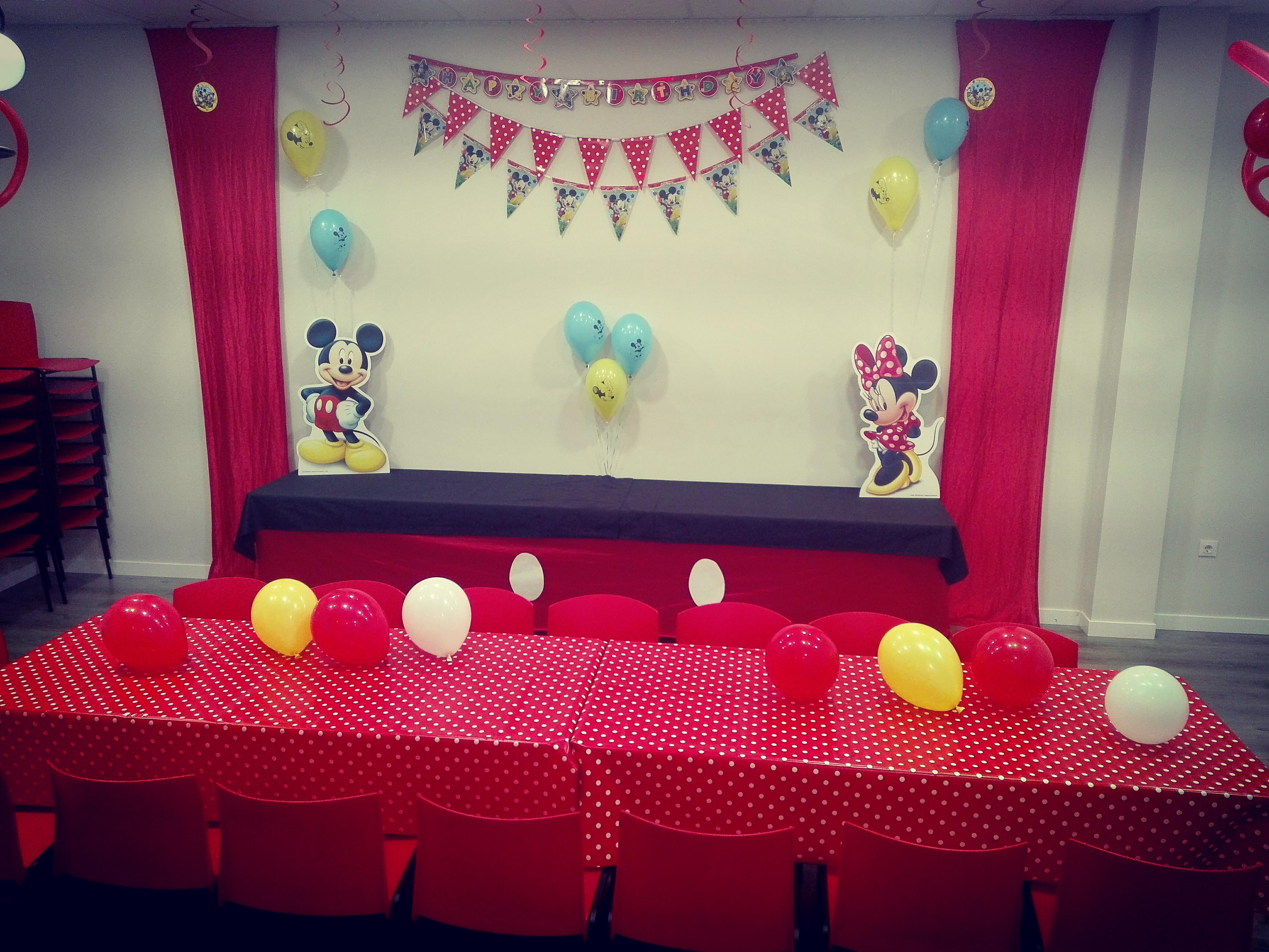 Decoración cumpleaños infantil Mickey