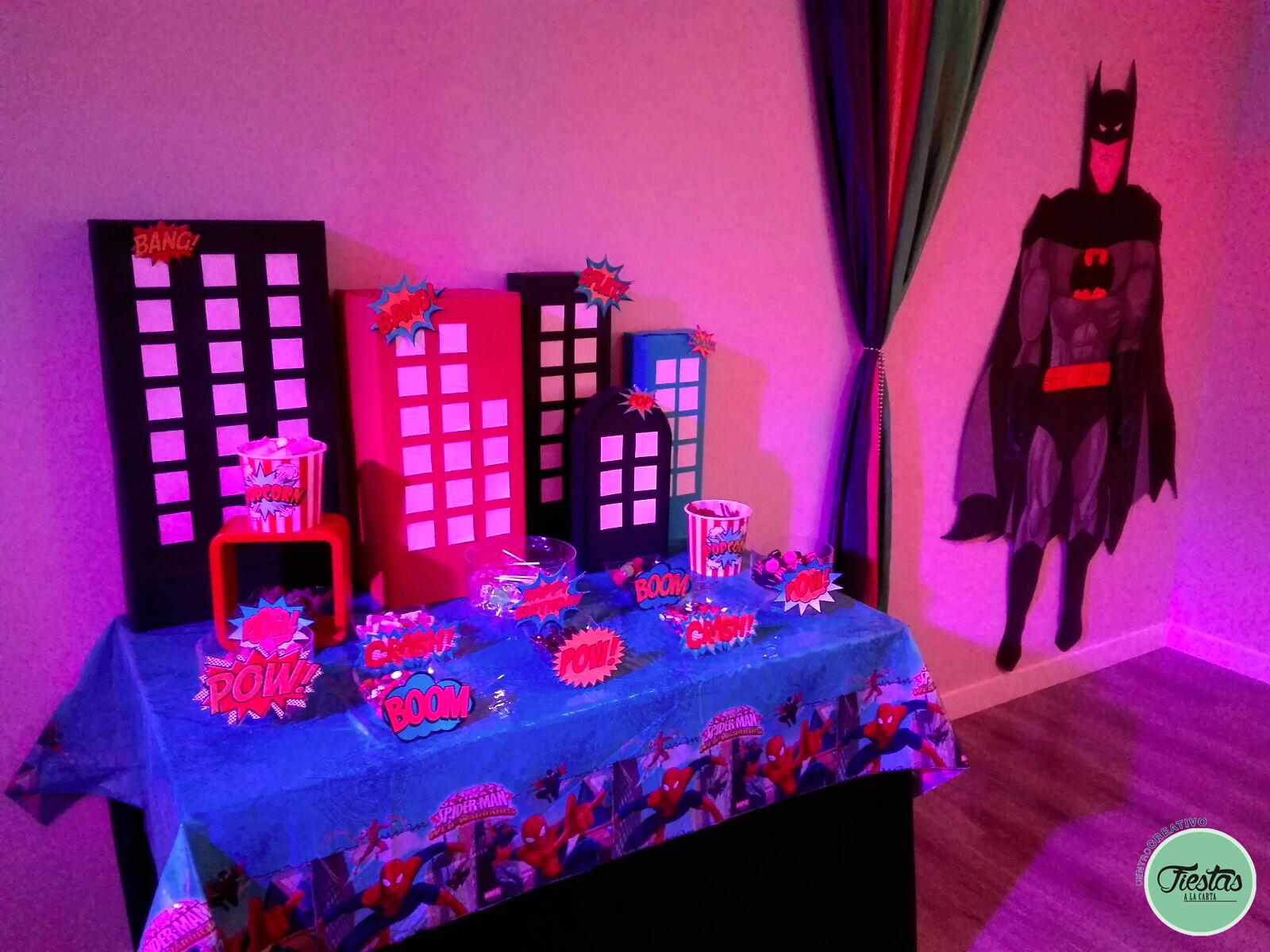 Decoración cumpleaños infantil Super héroes